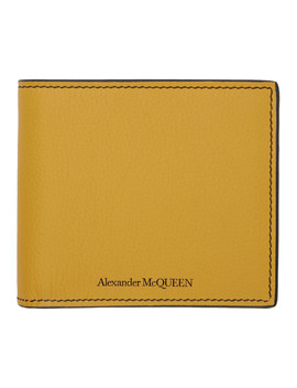 Yellow Sunflower Bifold Wallet by Alexander Mcqueen