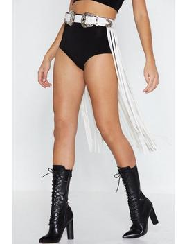 Western Hero Tassel Belt by Nasty Gal