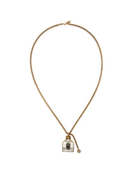 Gold Skull Charm Necklace by Alexander Mcqueen