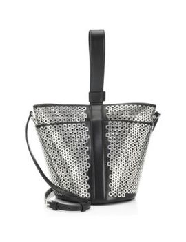 Mini Grommet Leather Bracelet Bucket Bag by Alaïa