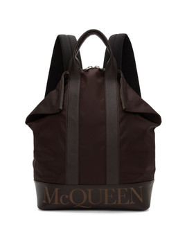 Burgundy De Manta Backpack by Alexander Mcqueen