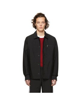Black Logo Paul Jacket by Nudie Jeans