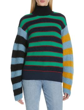 Colorblock Stripe Mohair & Wool Blend Sweater by Kenzo