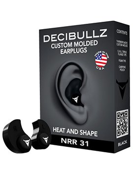 Decibullz   Custom Molded Earplugs, 31d B Highest Nrr, Comfortable Hearing Protection For Shooting, Travel, Swimming, Work And Concerts by Decibullz