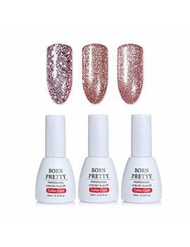 Born Pretty Nail Art Glitter Uv Gel Polish Shining Rose Gold Soak Off Uv Gel Manicure Varnish Lacquer 10ml 3 Colors by Born Pretty