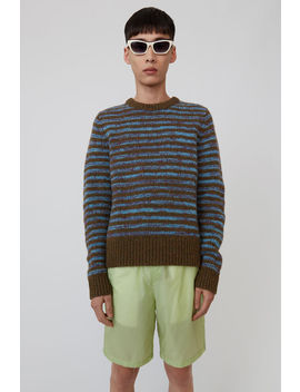 Striped Sweater Green/Blue by Acne Studios