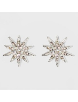 Snowflake Stud Earrings   A New Day™ Silver/Clear by A New Day