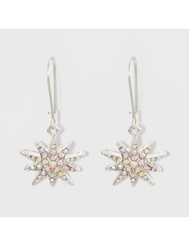 Pave Star Earrings   A New Day™ Silver/Clear by A New Day