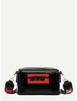 Slogan Strap Crossbody Bag by Romwe