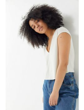 Uo Cap Sleeve Cropped Top by Urban Outfitters