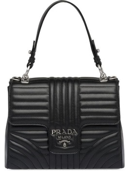 Diagramme Leather Bag by Prada