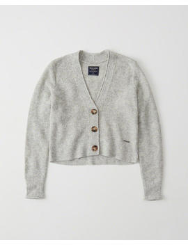 Fuzzy Button Up Sweater by Abercrombie & Fitch