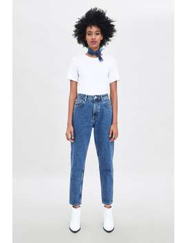 Authentic Denim Mom Jeans  New Intrf New Collection by Zara