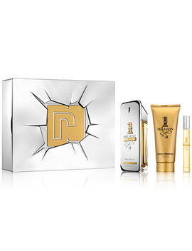 Men's 3 Pc. 1 Million Lucky Eau De Toilette Gift Set by Paco Rabanne