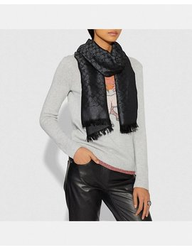 Signature Metallic Stole by Coach