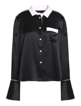 Two Tone Silk Satin Shirt by Equipment