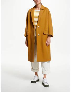 Kin Twill Cocoon Coat, Yellow by Kin