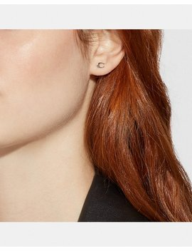Signature Stud Earrings by Coach