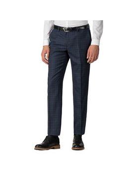 Ben Sherman   Deep Blue Check Slim Fit Trousers by Ben Sherman