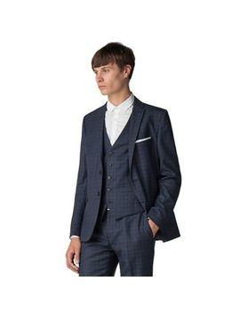 Ben Sherman   Deep Blue Check Slim Fit Jacket by Ben Sherman