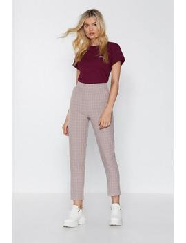 Now Square Was I Check Pants by Nasty Gal