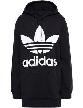 Printed Cotton Blend Fleece Hooded Sweatshirt by Adidas Originals