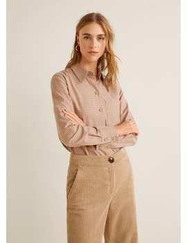 Camicia Cotone Quadri by Mango