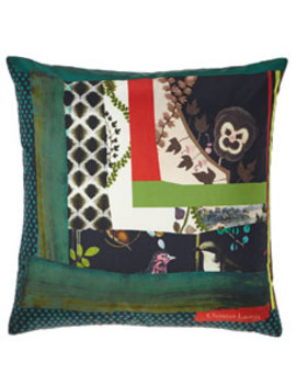 Christian Lacroix Pansy Patch Crepuscule Pillow  by Christian Lacroix