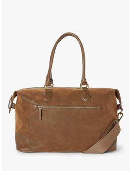 John Lewis & Partners Small Cambridge Holdall, Brown by John Lewis & Partners