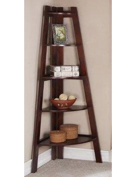 Walnut Finish 5 Tier Corner Display Unit Shelf / Rack F04038 by High Performance Parts
