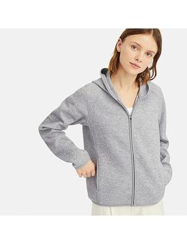 Women Dry Sweat Long Sleeved Zipped Hoodie by Uniqlo