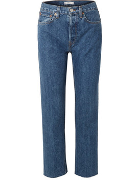 High Rise Stove Pipe Jeans Mit Geradem Bein by Re/Done