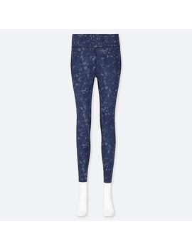 Women Airism Camouflage Print Leggings by Uniqlo