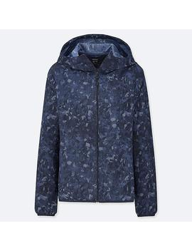 Women Uv Cut Camo Print Hooded Pocketable Parka by Uniqlo
