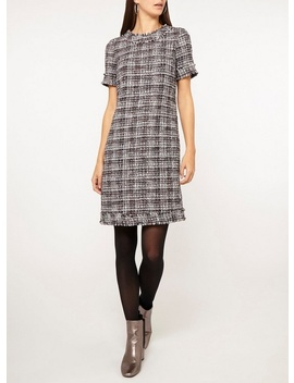 **Tall Navy Berry Boucle Shift Dress by Dorothy Perkins