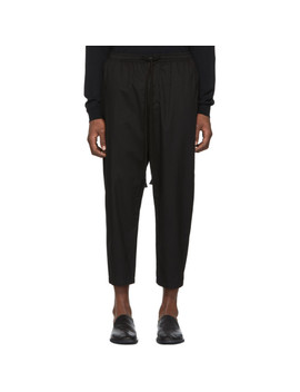 Black Drawstring Trousers by The Viridi Anne