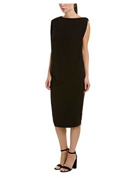 James Perse Womens Zip Shift Dress, 1, Black by James Perse