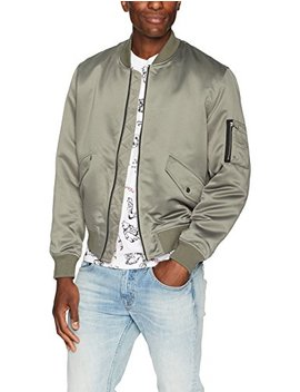 The Kooples Men's Silk Bomber Jacket With Pockets by The Kooples Men's