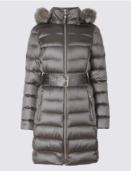 Down & Feather Jacket by Marks & Spencer