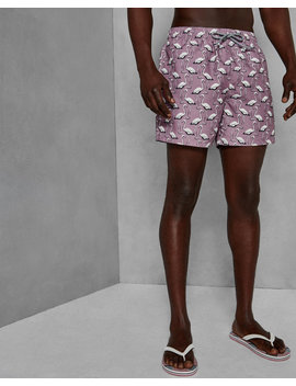 Flamingo Print Swim Shorts by Ted Baker