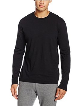 Men's James Perse L/S Crew Neck Tee In Black by James Perse