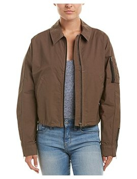 James Perse Womens Batwing Bomber Jacket, 2, Green by James Perse