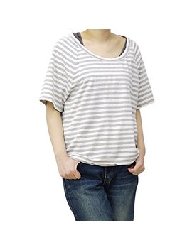 James Perse T Shirt Top Gray Striped Scoop Neck by James Perse