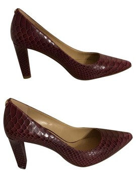 Mulberry Snake Embossed Printed Leather Abbi Flex Pumps by Michael Michael Kors