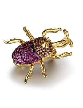 Bee/Ladybug/Beetle/Cockroach/Housefly Insect Brooches For Women Cute Brooch Jewelry Clothes Accessories (As101704) by Jewelora