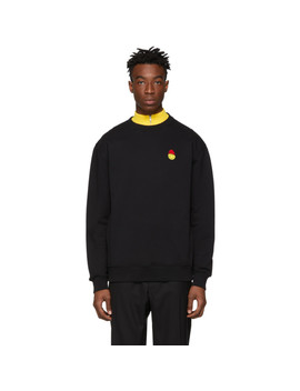 Black Smiley Edition Patch Sweatshirt by Ami Alexandre Mattiussi
