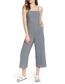 Laneway Stripe Smocked Crop Jumpsuit by The Fifth Label