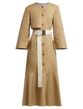 Finn Cotton Twill Trench Dress by Tibi