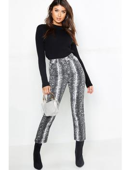 Snake Straight Leg Jean by Boohoo