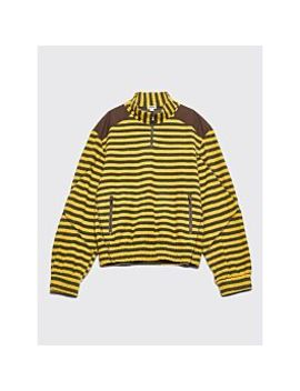 Phipps Half Zip Pull Over Trekking Sweatshirt Green / Yellow by Très Bien